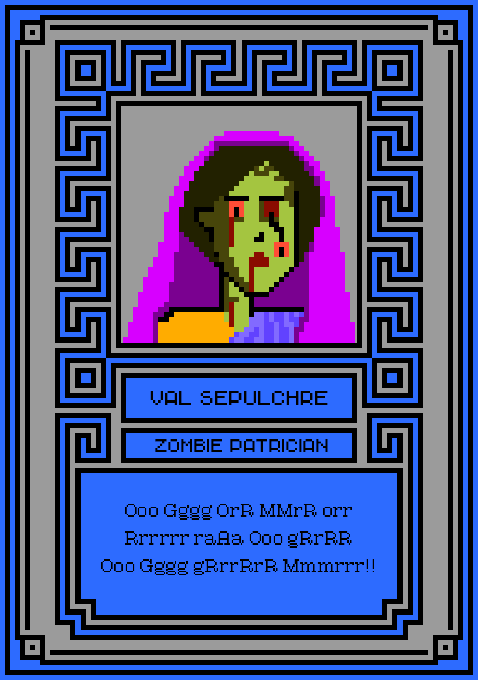 102 - Val Sepulchre Zombie Patrician